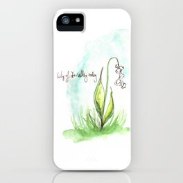 Journal Entry: Lily of the Valley iPhone Case