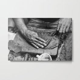 The Pull Metal Print