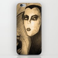 evil queen iPhone & iPod Skins featuring evil queen -snow white by Mathieu DeVille