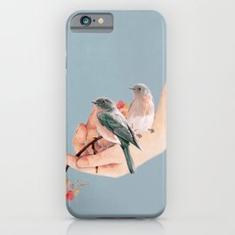 Birds on Hand iPhone Case