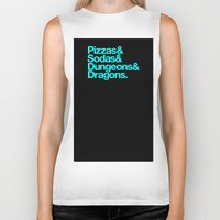 dungeons and dragons Biker Tanks featuring Dungeons & Dragons & Swag by Tuff Industries