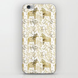 Swedish Dala Horses – Gold Palette iPhone Skin