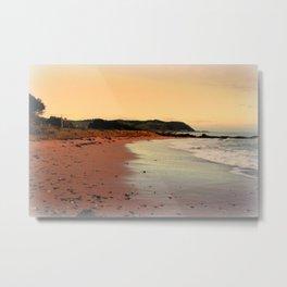 Red Sands on the Beach in Tasmania Metal Print