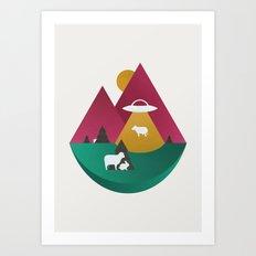 The UFO Art Print