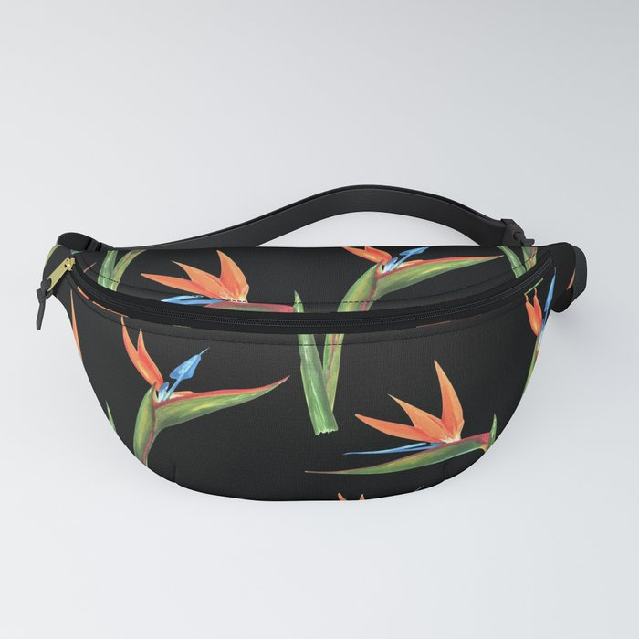 Bird of paradise flowers patten Fanny Pack