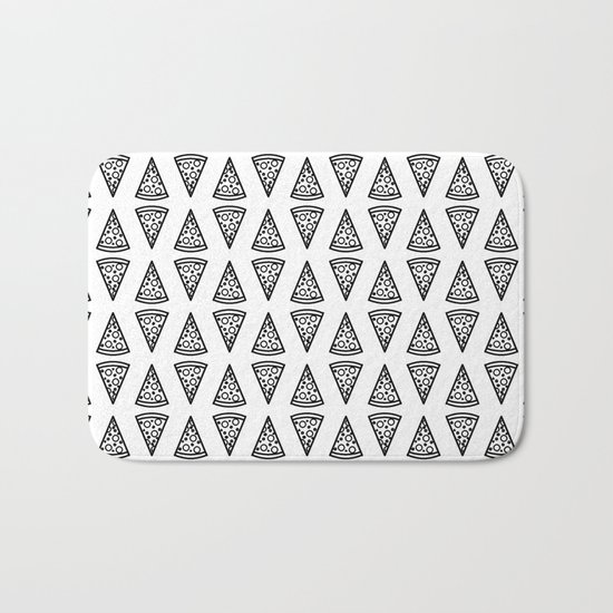 Geometric Pizza Pattern Bath Mat