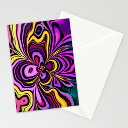 Abstract Iris Flower Design Stationery Cards