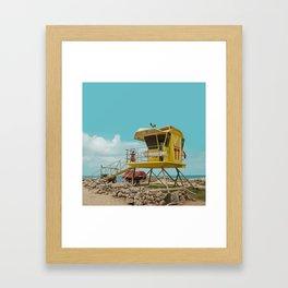 T7 Lifeguard Station Kapukaulua Beach Paia Maui Hawaii Framed Art Print