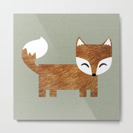 Box Fox Metal Print
