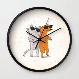 Cat - Dog Wall Clock