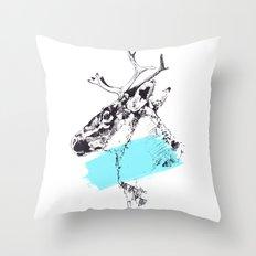 Bleu Boréal Throw Pillow