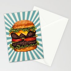 Cheeseburger - Double Stationery Cards