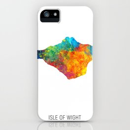 Isle of Wight Watercolor Map iPhone Case