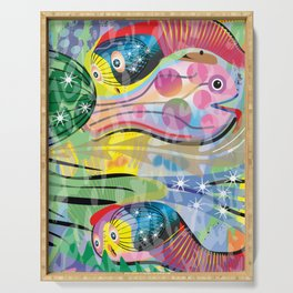 Hippy Fish in Rainbow Glow Serving Tray