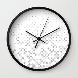 Grey square pattern background - vector illustration Wall Clock