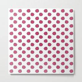 Pink flowers on white Metal Print