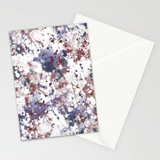 Red White Blue Watercolor Abstract Stationery Cards