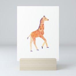 Les Animaux: Baby Giraffe Mini Art Print