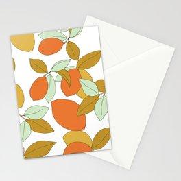 Lemons and Oranges Pattern Design Stationery Cards