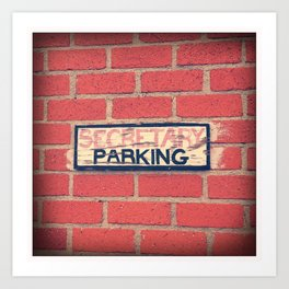 Secretary Parking Art Print
