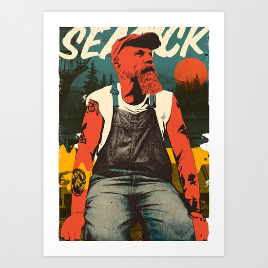 Seasick Steve Art Print