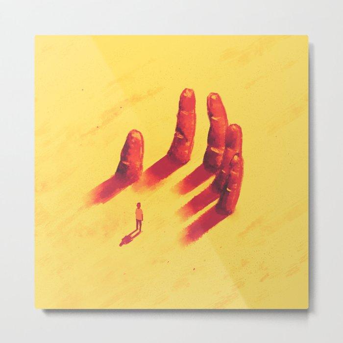 long fingers Metal Print