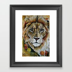 Beauty Lion Framed Art Print