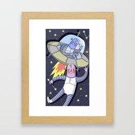 Alien Friends Framed Art Print