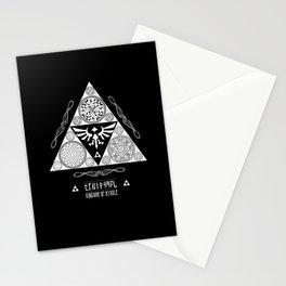Legend of Zelda Kingdom of Hyrule Crest Letterpress Vector Art Stationery Cards
