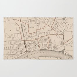 Vintage Map of Springfield MA (1891) Rug