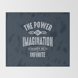 The Power of Imagination Throw Blanket