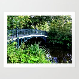 Vondelpark Bridge Art Print