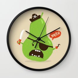 Pear-ate a.k.a The Angry Pirate Wall Clock