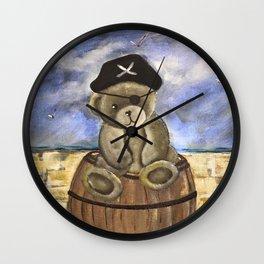 Pirate Ahoy Teddy Wall Clock