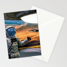 Hitchhiking Around The Universe Stationery Cards