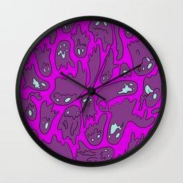 Purple Ghosties Wall Clock