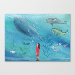Exploring the deep Canvas Print