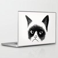 grumpy Laptop & iPad Skins featuring Grumpy Cat by Tummeow
