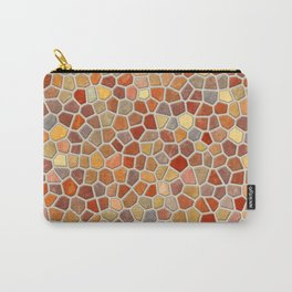 Fall Colors Mosaic Pattern - light Carry-All Pouch