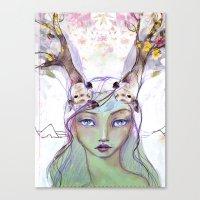 jane davenport Canvas Prints featuring Dear Deer by Jane Davenport by Jane Davenport