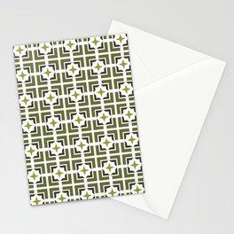 TRELLIS, OLIVE Stationery Cards