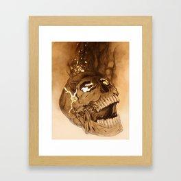 Kintsugi Skull Framed Art Print