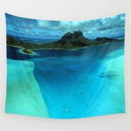Bora Bora Lagoon Aerial Wall Tapestry