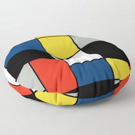 Piet Mondrian - Large Composition A with Black, Red, Gray, Yellow and Blue, 1930 Artwork Floor Pillow