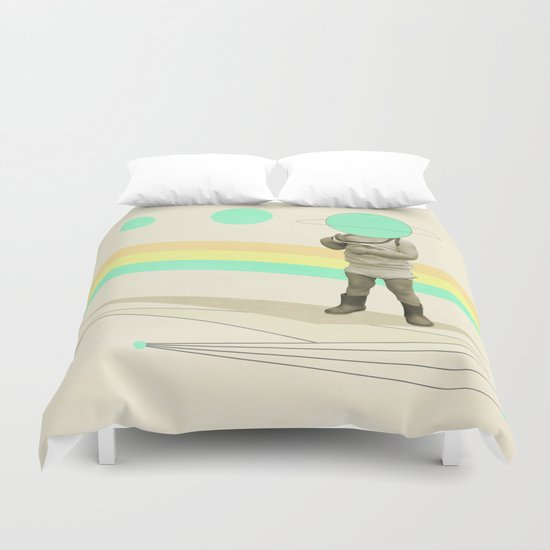he believes he can fly Duvet Cover