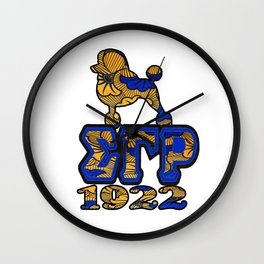Sigma Gamma Rho African Print with Poodle and 1922 Wall Clock