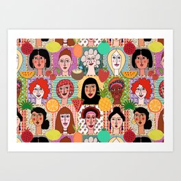 the colors of women Art Print