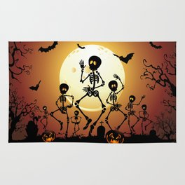 Skeletons Macabre Dance Rug
