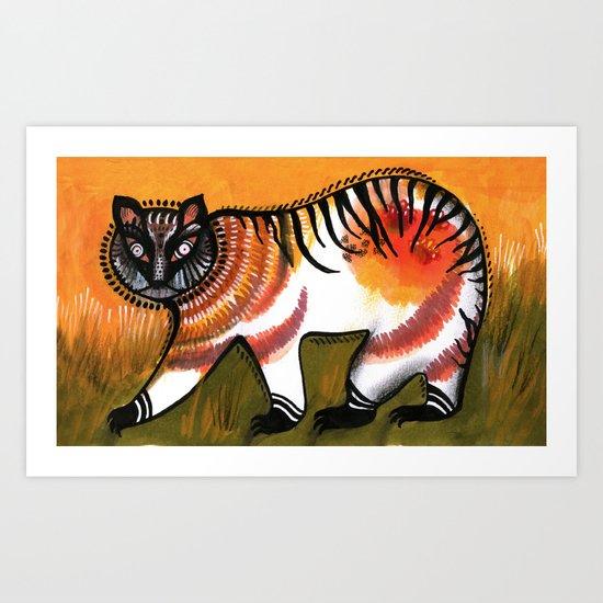 Indian Tiger Art Print