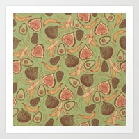 fig Art Prints featuring Fig by Meredith Miotke